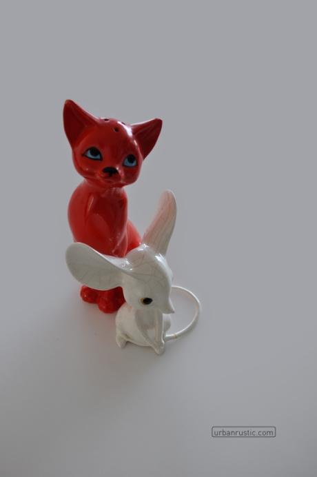 retro cat vintage mouse