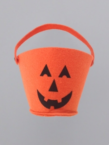 Halloween_frankenstein_bucket orange felt trick or treat