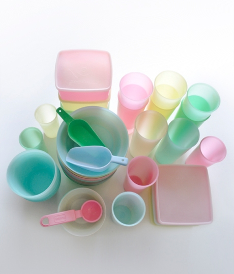 Vintage pastel tupperware Sixties candy colours