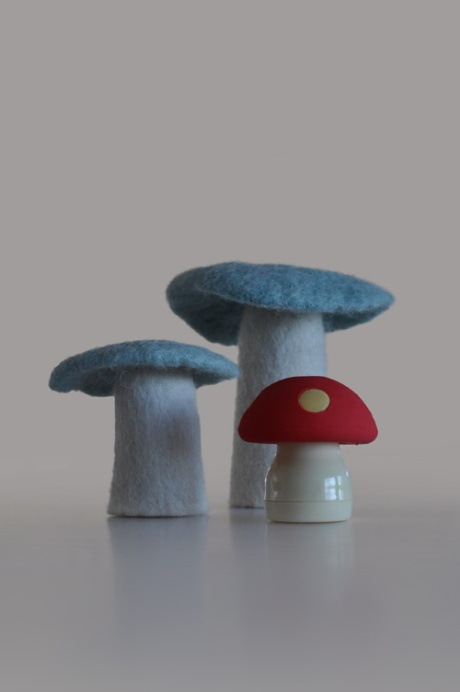 blue felt & red pencil sharpener mushrooms copy copy