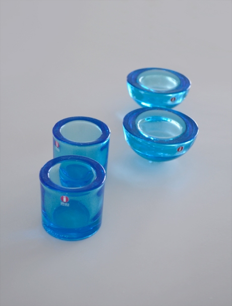 iitala finnish tea lights blue kivi set