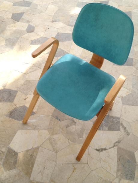 Mid Century modern Thonet Chair moulded ply arms
