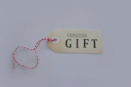 urban rustic free gift tag