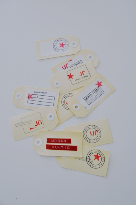 urban rustic stamped bus cards spread