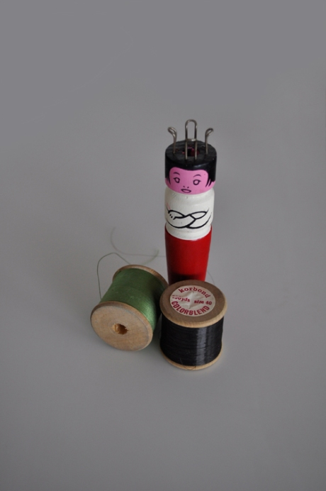 vintage wooden cotton reels knitting nancy