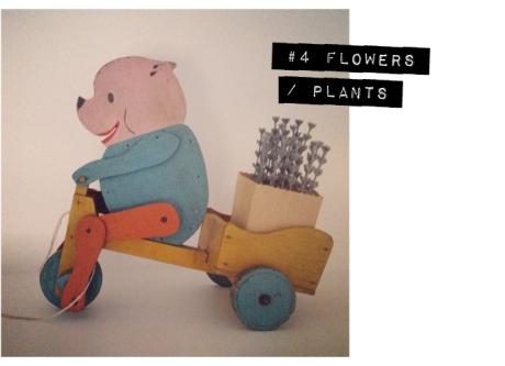 vintage wooden pig cart toy lavender 7 vignettes