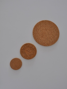 cork dots coasters flipped