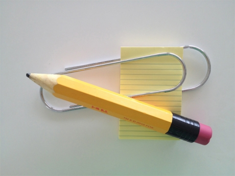 universal paper clip paper weight notepapers
