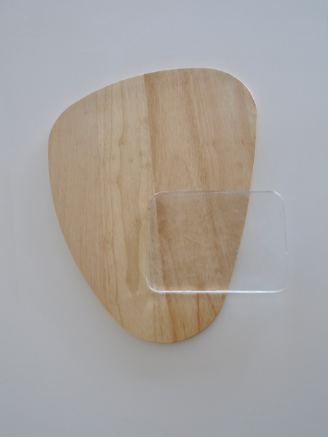 glass coaster wooden board