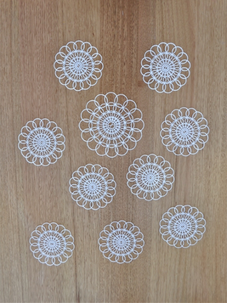 plastic white coasters retro