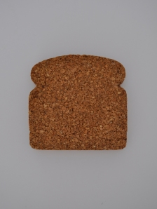 single cork toast coaster
