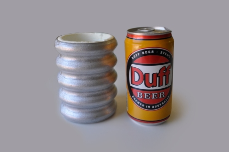 tin stubbie holder duff beer can copy