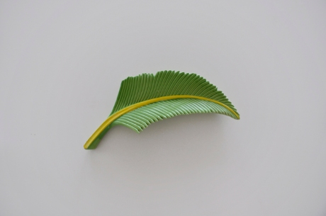 large wall mount fern leaf plate