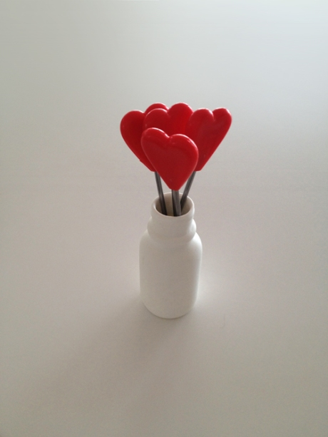 love heart forks picks valentines day
