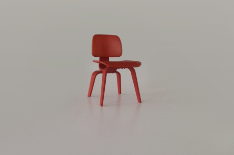 Mini Eames LCW chair horizontal