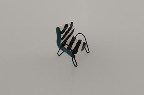 salt shaker zebra chair mid_century moderm