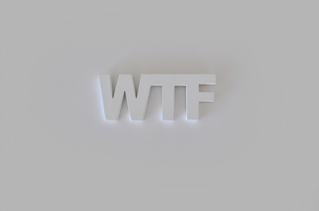 what the? white letters sign
