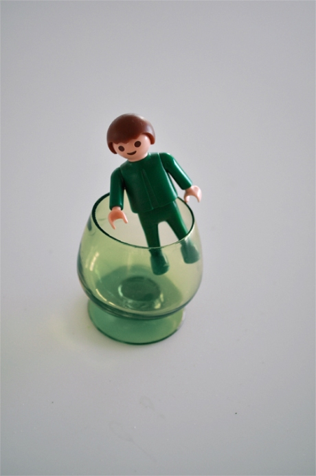green glass playmobil toy
