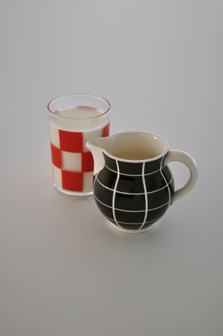 Waechtersbach west german check jug and retro tumbler copy