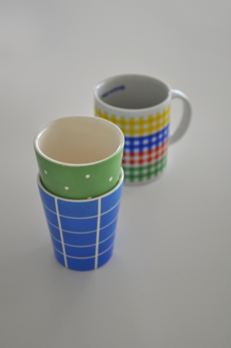 Waechtersbach west german check tumblers gingham mug