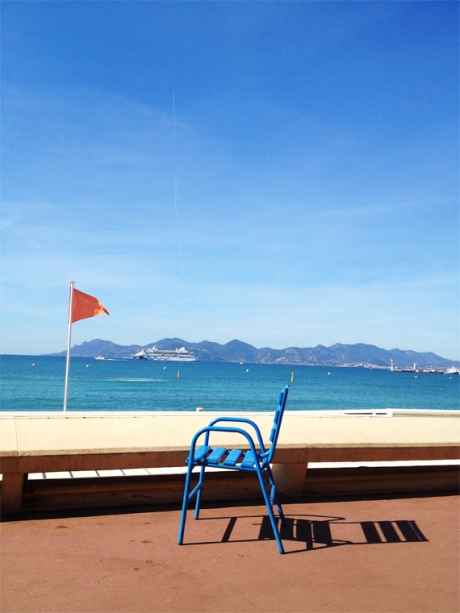 Cannes Cobalt blue chairs Riviera