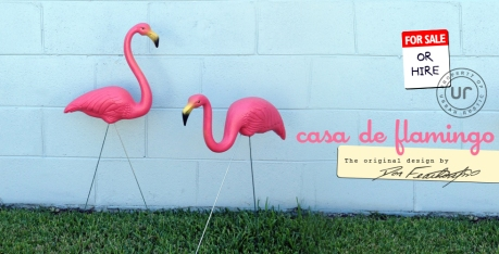 Don Featherstone Plastic Lawn Flamingos