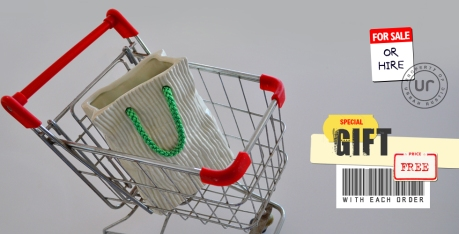 urban rustic free gift shopping trolley