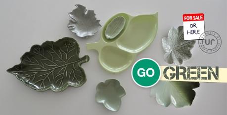 vintage recycled leaf plates urban rustic