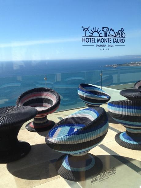 Hotel Monte Tauro cane tub chairs Mediterranean