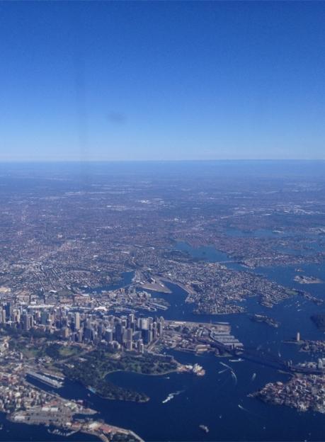 Sydney Harbour blue skies