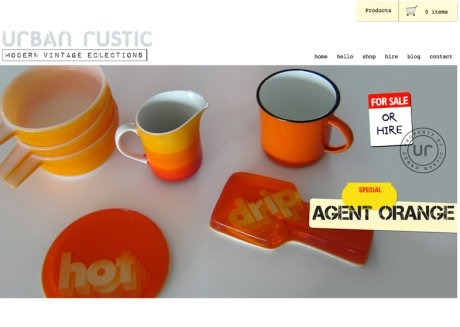 urban rustic home page image