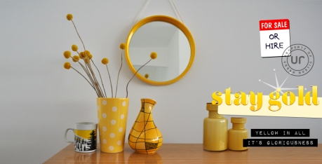 urban rustic yellow vintage modern retro home
