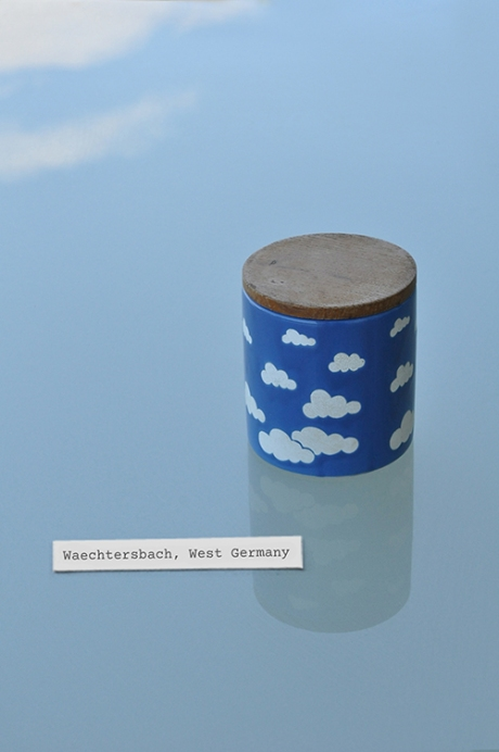 Waechtersbach West German pottery canister clouds