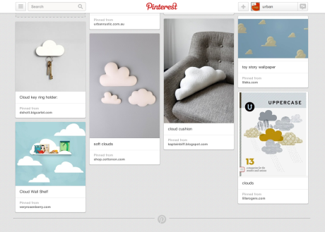 cloudy pinterest board