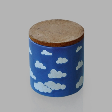 Clouds waechtersbach canister on grey