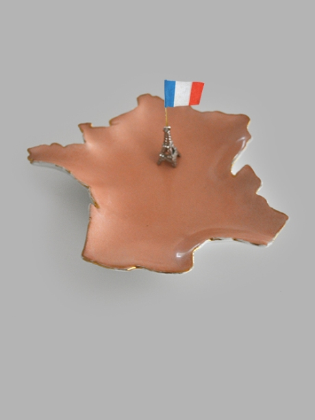 Map of France souvenir plate