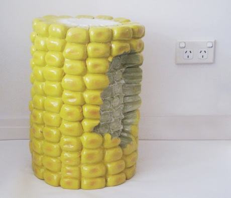 giant corn cob stool sunday collector