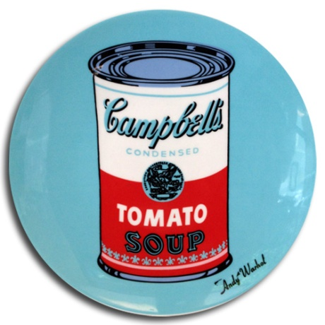 Andy Warhol Rosenthal Campbells soup can art plate