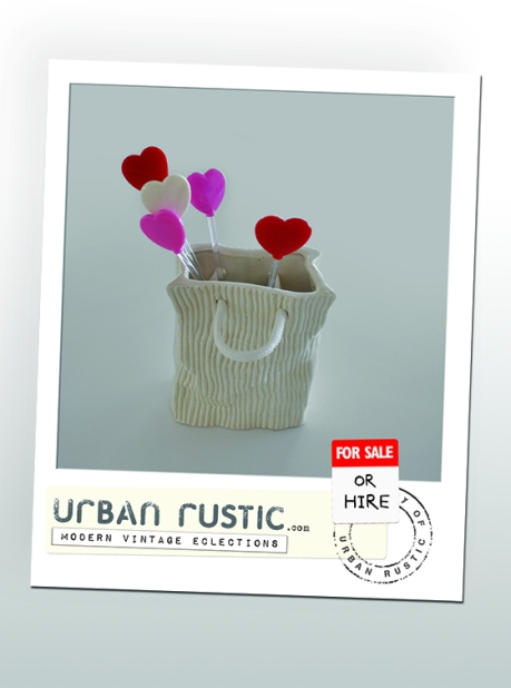 urban rustic love shopping postcard