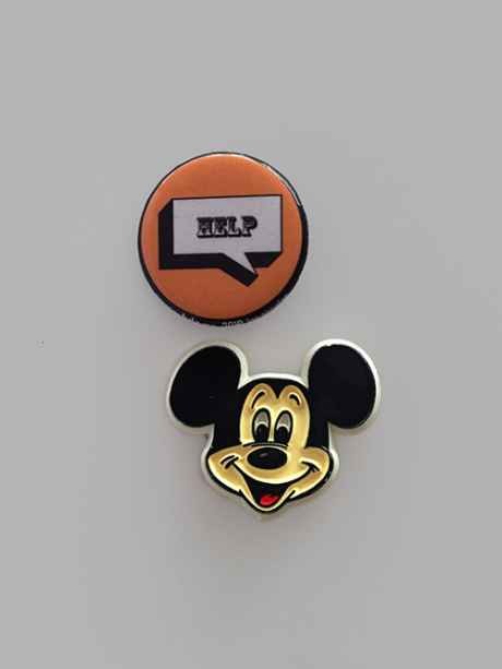 vintage mickey mouse help pin
