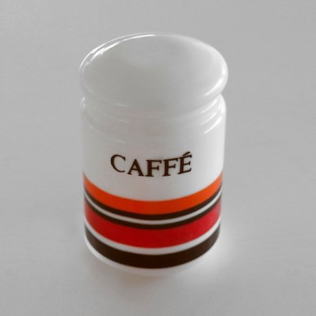 caffe orange milk glass retro canister