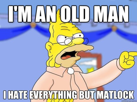 The Simpsons Grampa angy old man