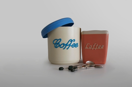 javascript bakelite coffee canisters vintage retro spoons