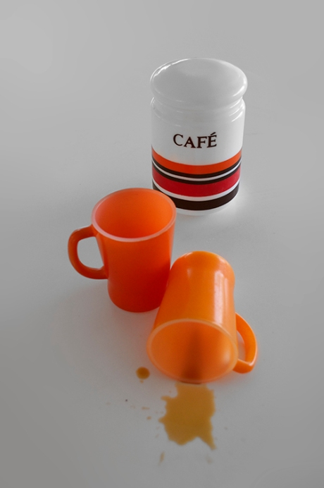 milk glass cafe orange pyrex mugs copy