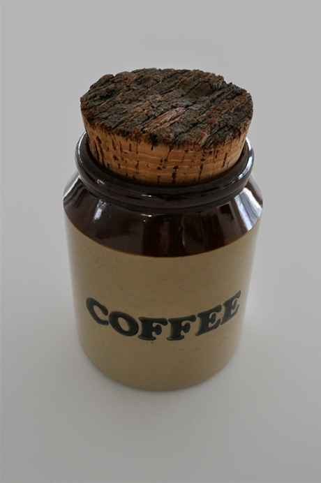 stoneware retro coffee container large