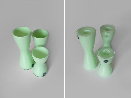 Holmegaard Crystal vases candleholders