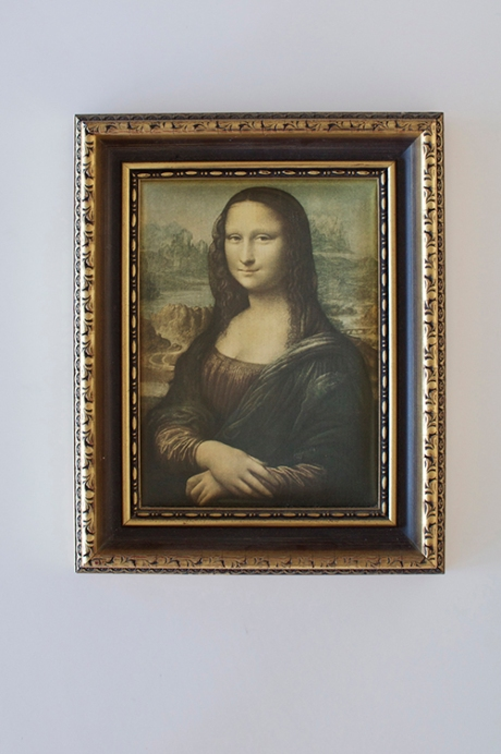 Vintage Mona Lisa replica ornate frame
