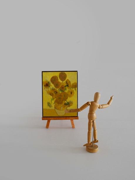 sunflowers mini van gogh vignette