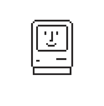 vintage apple icon Susan Kare