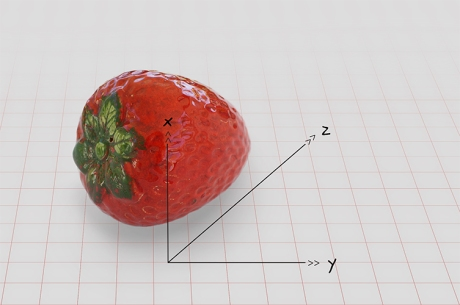 strawberry 3d grid new